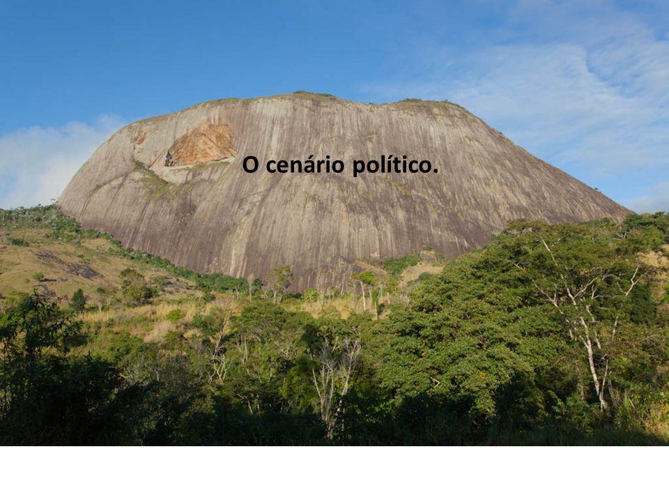 O cenário político.