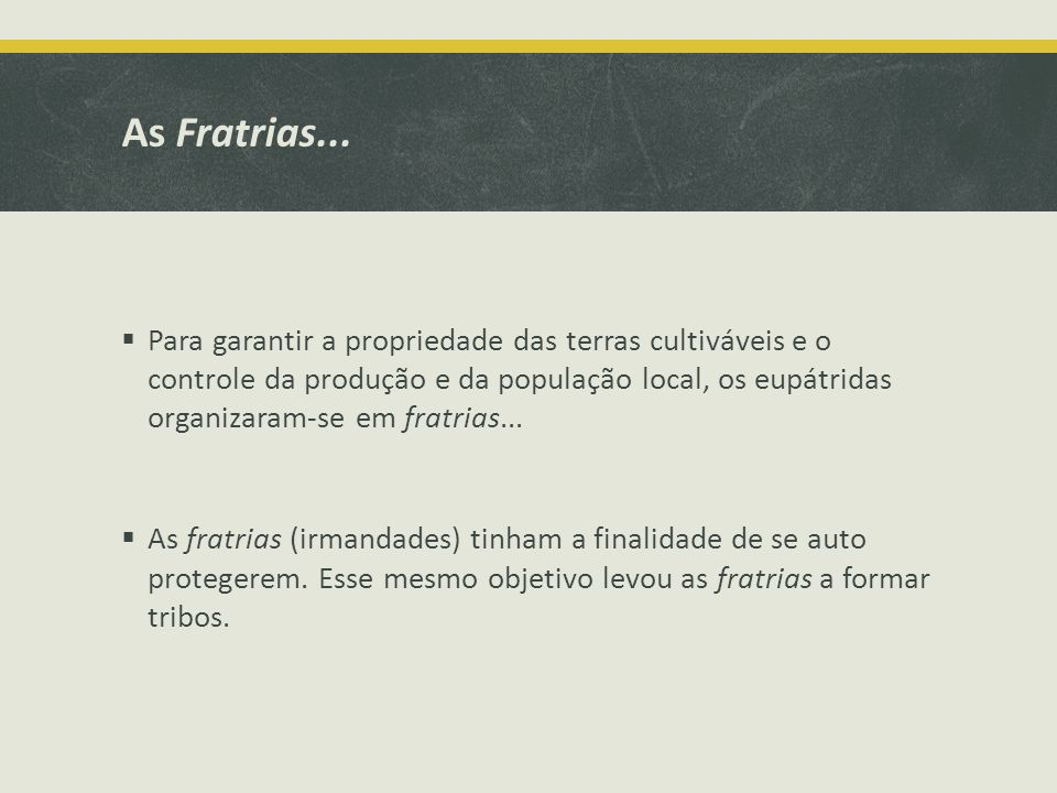 As Fratrias...