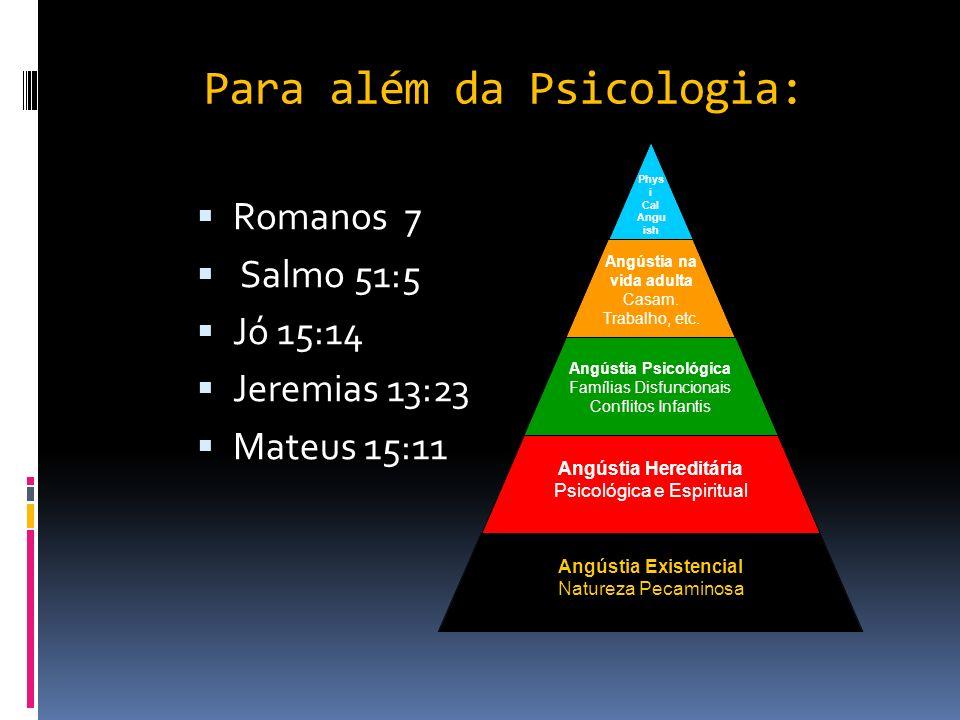 Para além da Psicologia: