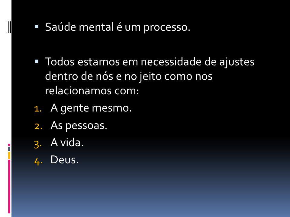 Saúde mental é um processo.