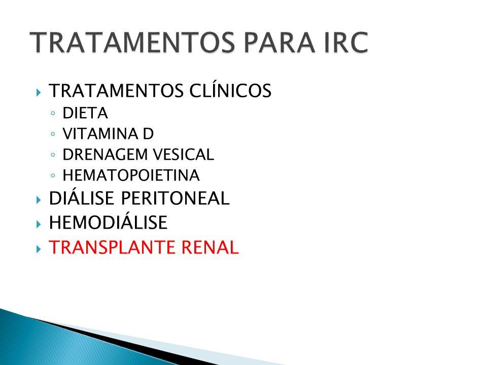 TRATAMENTOS PARA IRC TRATAMENTOS CLÍNICOS DIÁLISE PERITONEAL