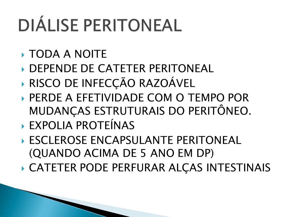 DIÁLISE PERITONEAL TODA A NOITE DEPENDE DE CATETER PERITONEAL