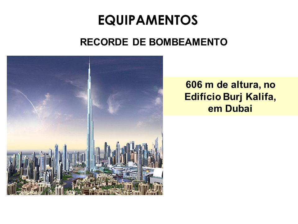 EQUIPAMENTOS RECORDE DE BOMBEAMENTO