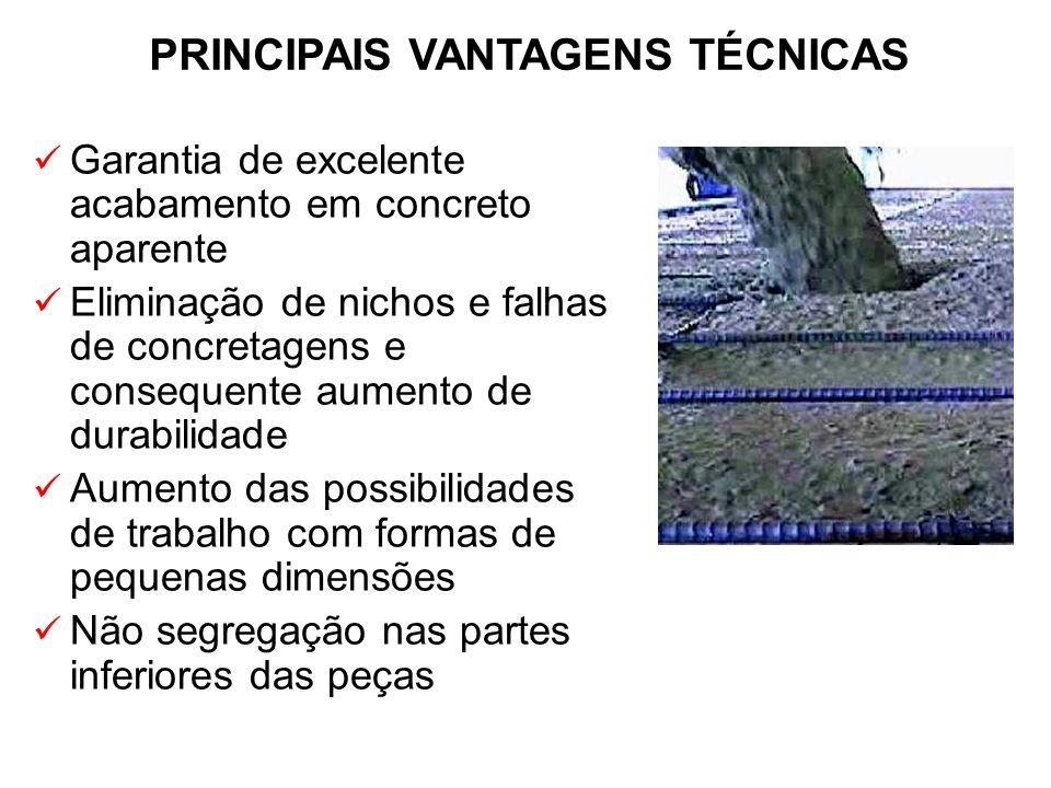 PRINCIPAIS VANTAGENS TÉCNICAS