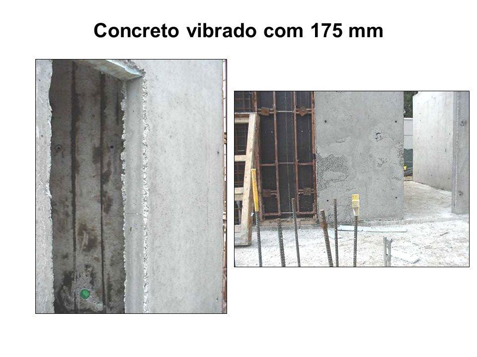 Concreto vibrado com 175 mm