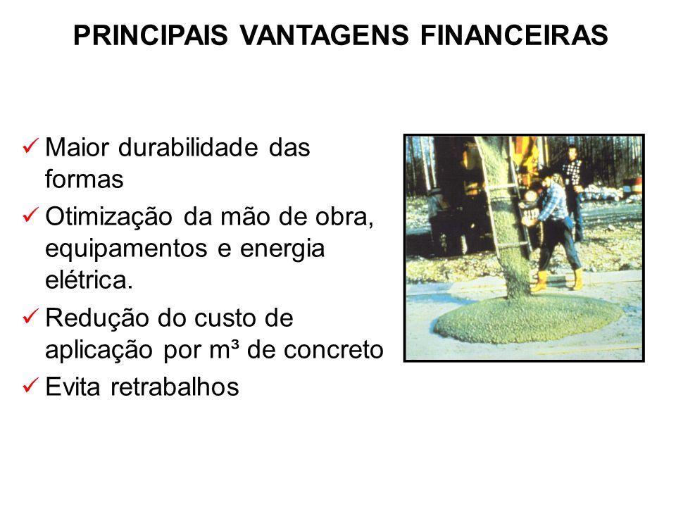 PRINCIPAIS VANTAGENS FINANCEIRAS