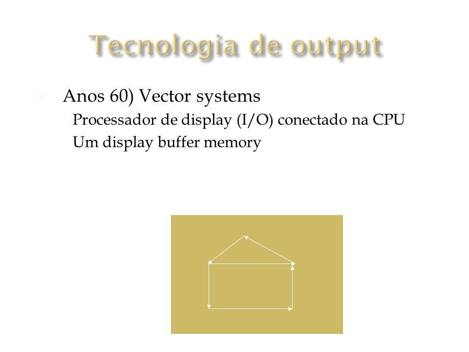 Tecnologia de output (Anos 60) Vector systems