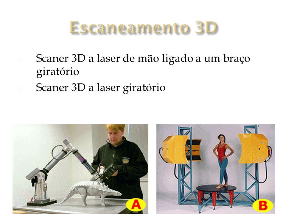 Escaneamento 3D Scaner 3D a laser de mão ligado a um braço giratório