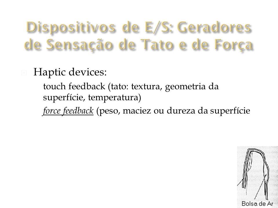 Dispositivos de E/S: Geradores de Sensação de Tato e de Força