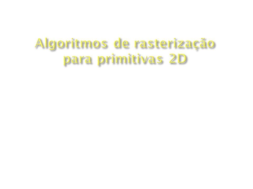 Algoritmos de rasterização para primitivas 2D