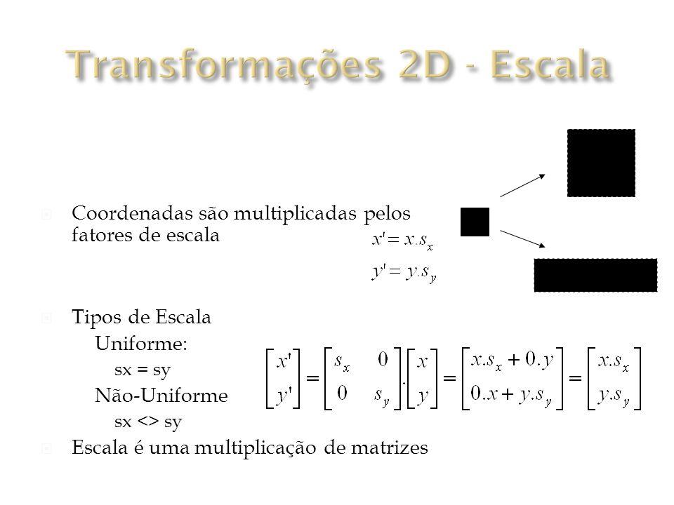 Transformações 2D - Escala
