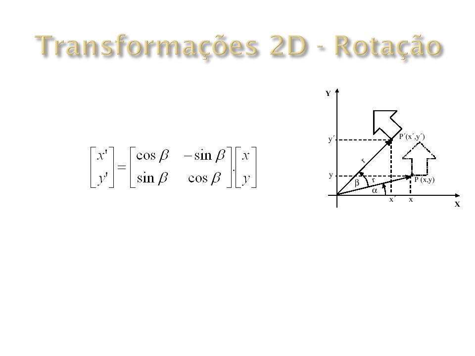 Transformações 2D - Rotação