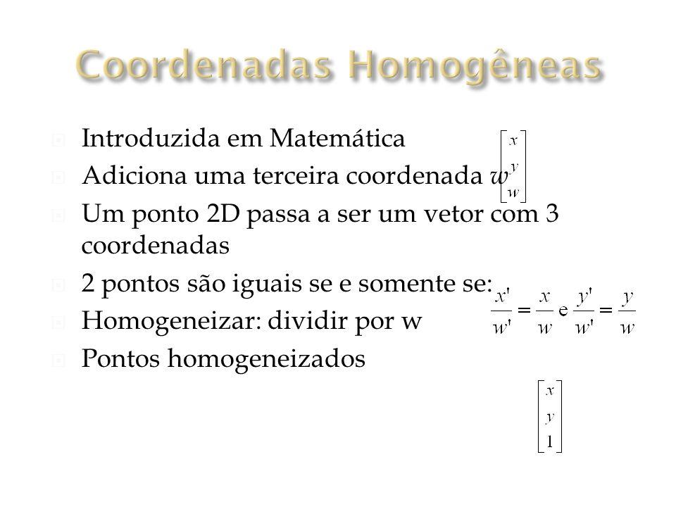Coordenadas Homogêneas