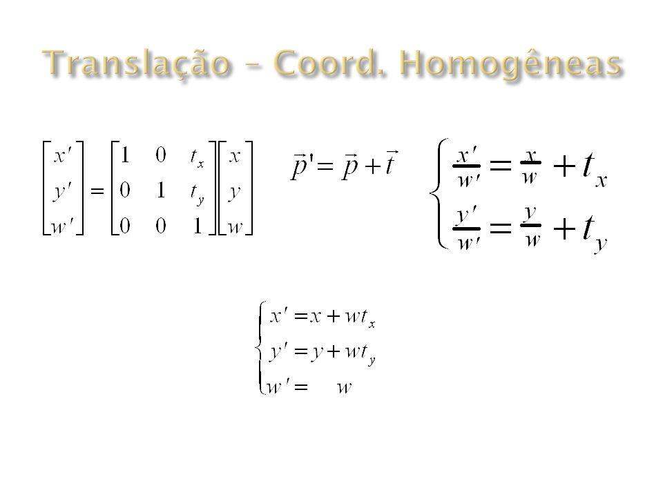 Translação – Coord. Homogêneas