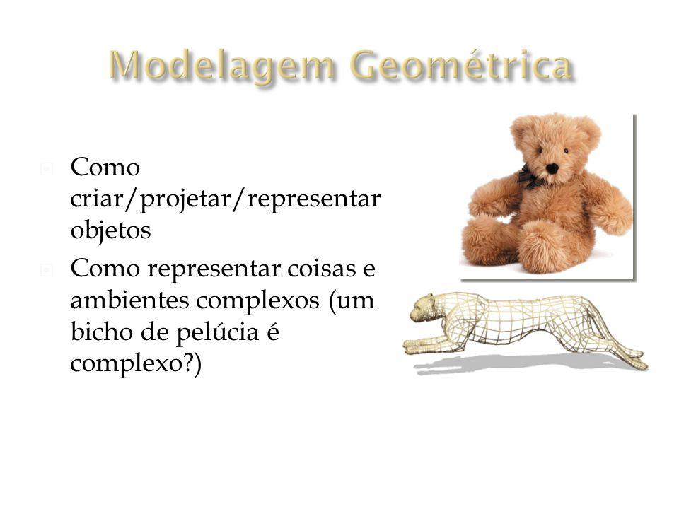 Modelagem Geométrica Como criar/projetar/representar objetos