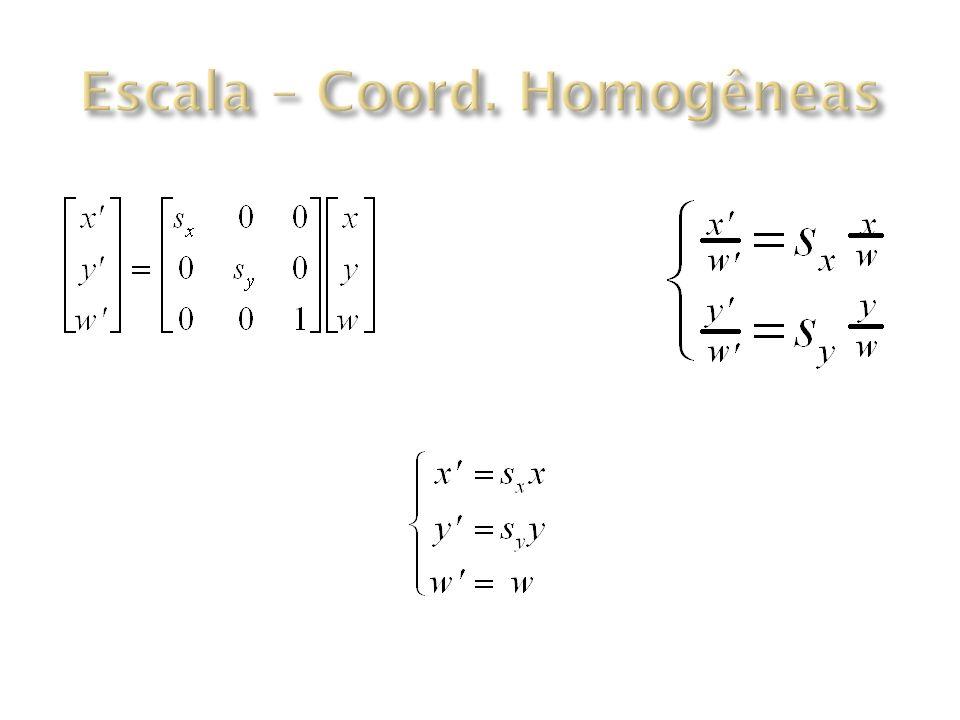 Escala – Coord. Homogêneas