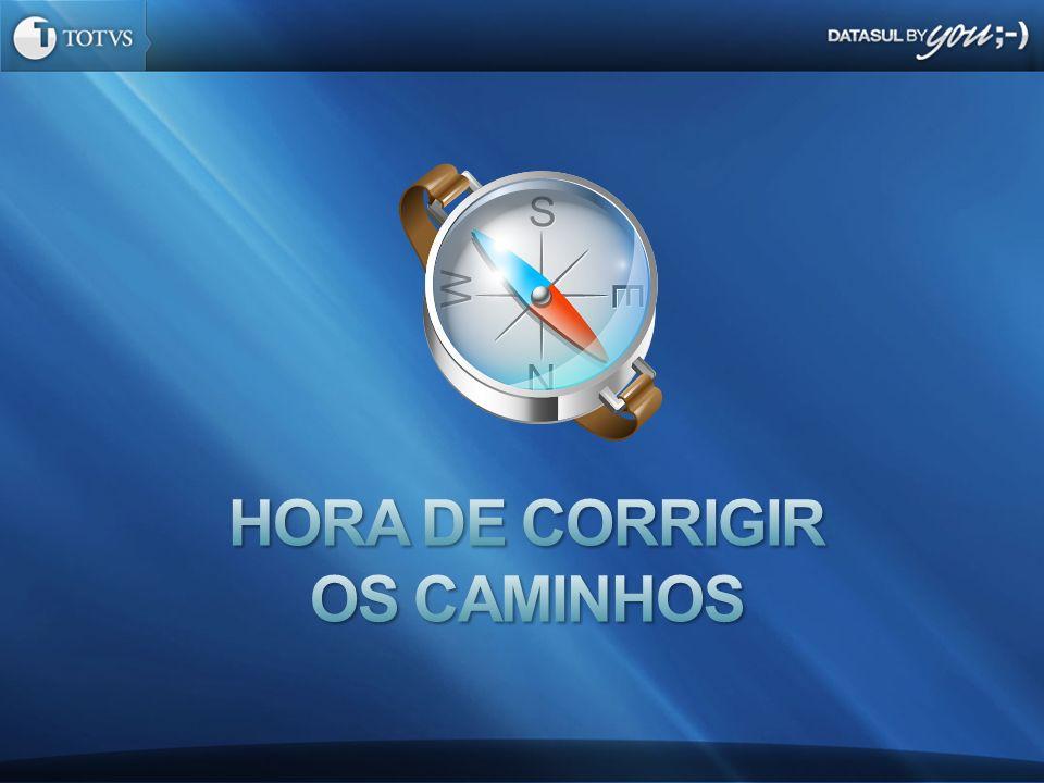 HORA DE CORRIGIR OS CAMINHOS