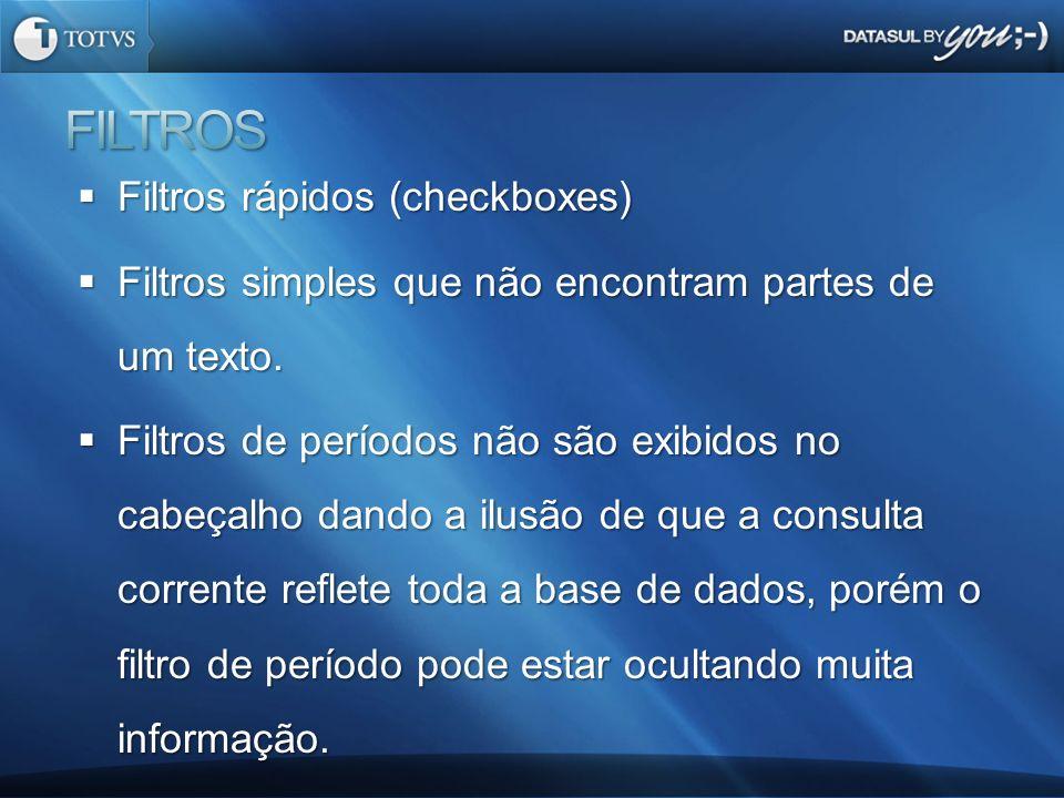 FILTROS Filtros rápidos (checkboxes)
