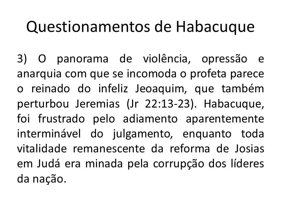 Questionamentos de Habacuque