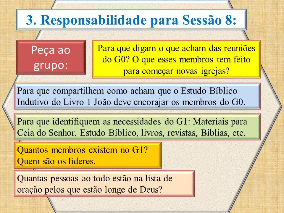 3. Responsabilidade para Sessão 8: