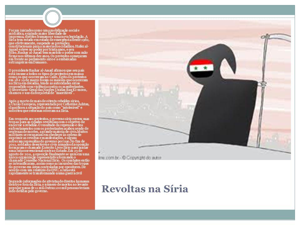 Foram iniciados como uma mobilização social e midiática, exigindo maior liberdade de imprensa, direitos humanos e uma nova legislação. A Síria tem estado em estado de emergência desde 1962, que efetivamente, suspende as proteções constitucionais para a maioria dos cidadãos. Hafez al- Assad esteve no poder por trinta anos, e seu filho, Bashar al-Assad tem mantido o poder com mão firme nos últimos dez anos. Os protestos começaram em frente ao parlamento sírio e a embaixadas estrangeiras emDamasco.