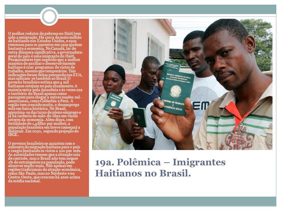 19a. Polêmica – Imigrantes Haitianos no Brasil.