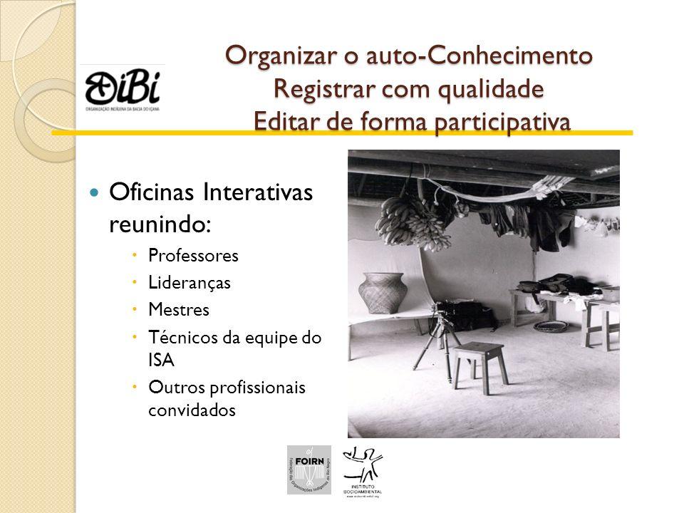 Organizar o auto-Conhecimento Registrar com qualidade Editar de forma participativa