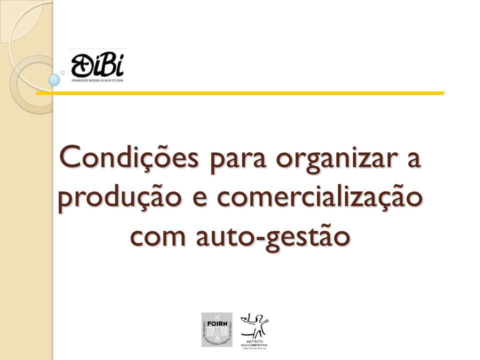 Condições para organizar a produção e comercialização com auto-gestão