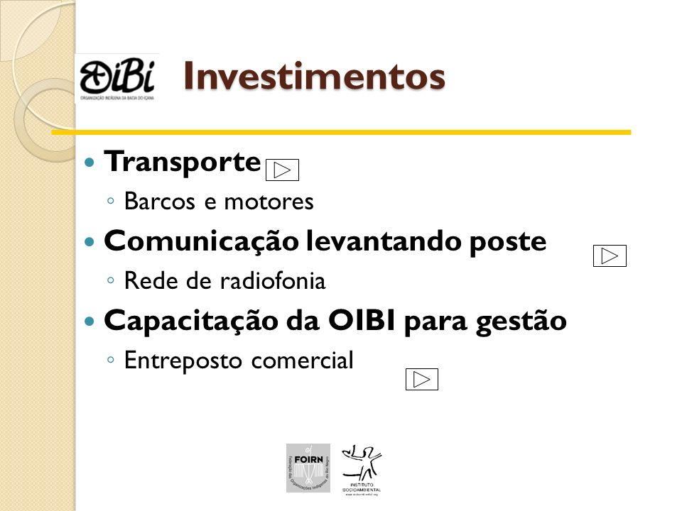 Investimentos Transporte Comunicação levantando poste