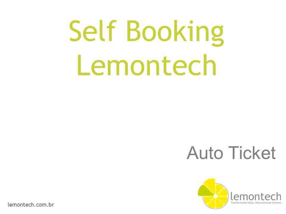 Self Booking Lemontech