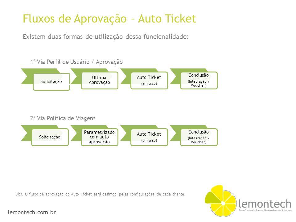 Fluxos de Aprovação – Auto Ticket