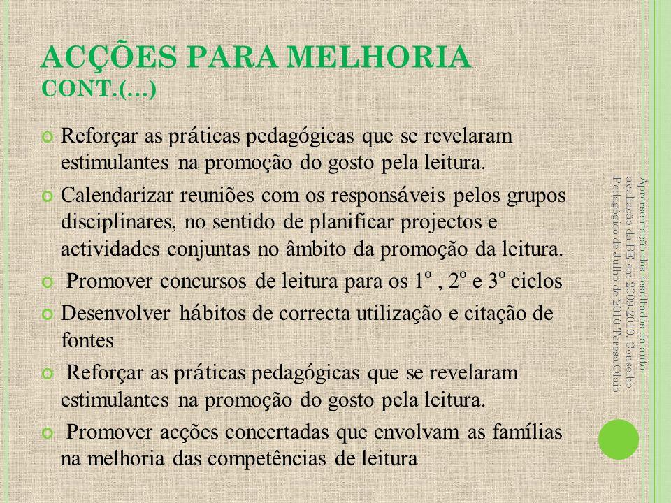ACÇÕES PARA MELHORIA CONT.(…)