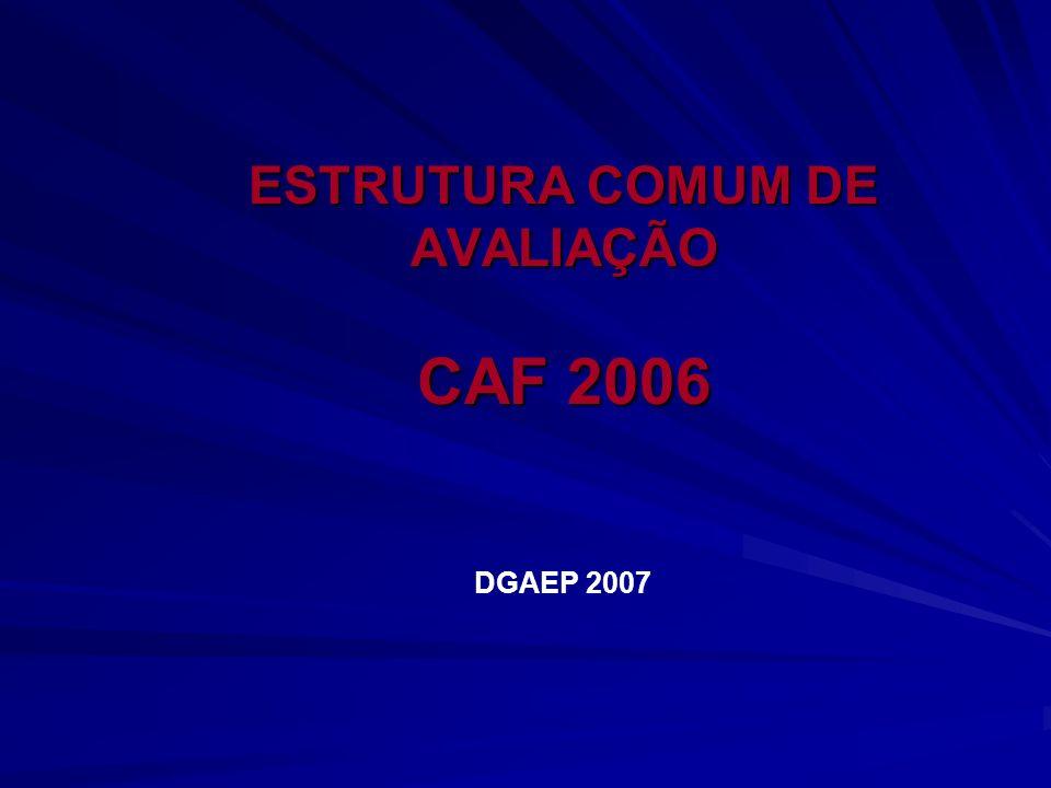 ESTRUTURA COMUM DE AVALIAÇÃO CAF 2006