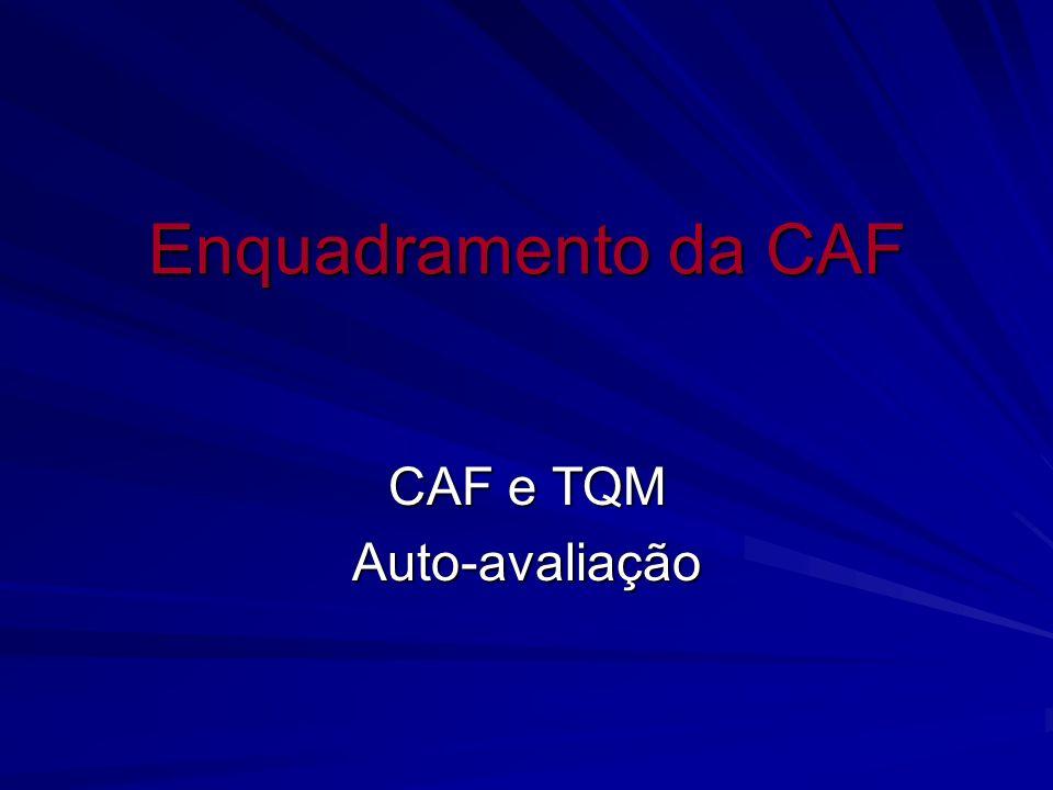 CAF e TQM Auto-avaliação