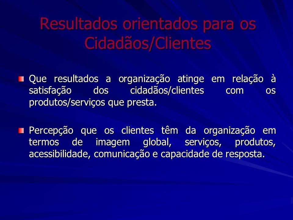 Resultados orientados para os Cidadãos/Clientes