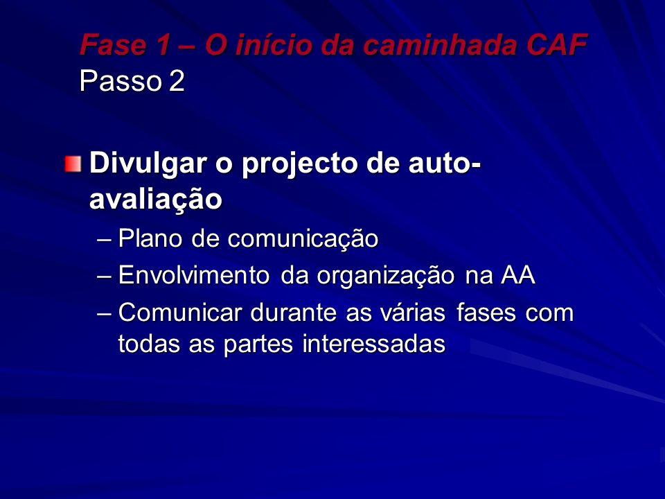 Fase 1 – O início da caminhada CAF Passo 2