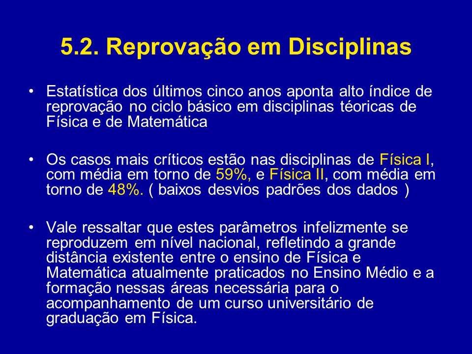 5.2. Reprovação em Disciplinas