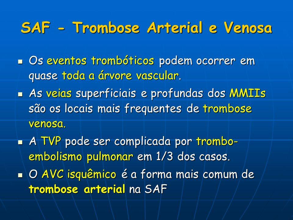 SAF - Trombose Arterial e Venosa