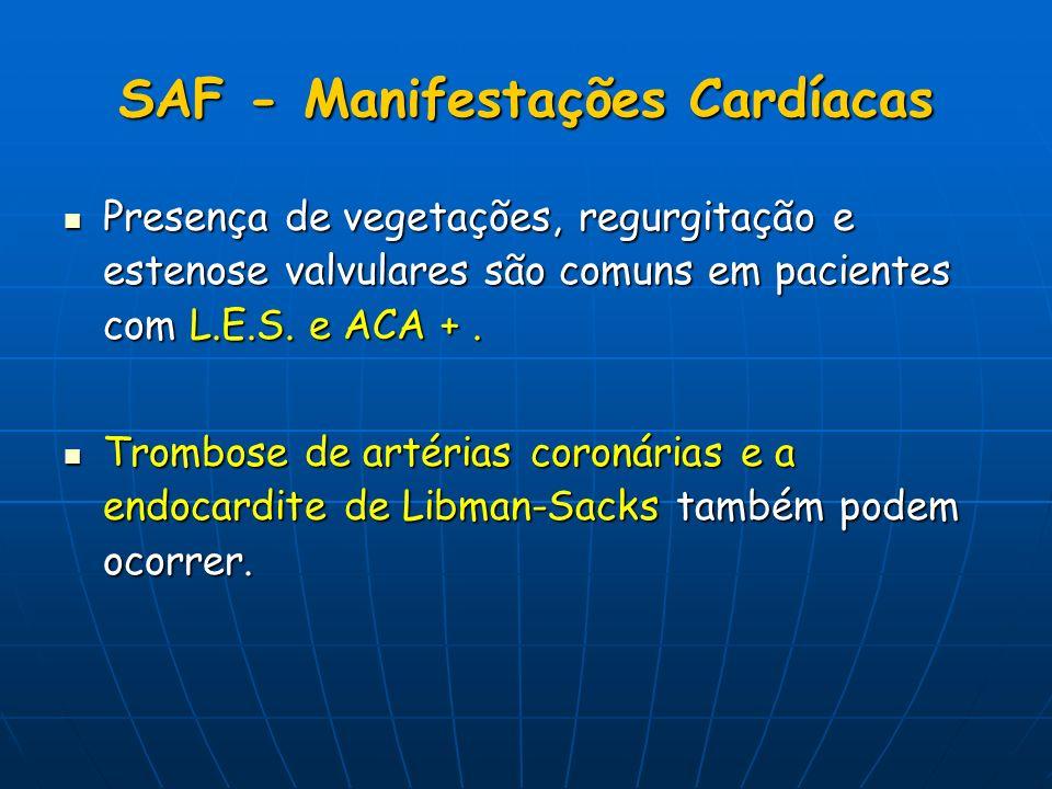 SAF - Manifestações Cardíacas