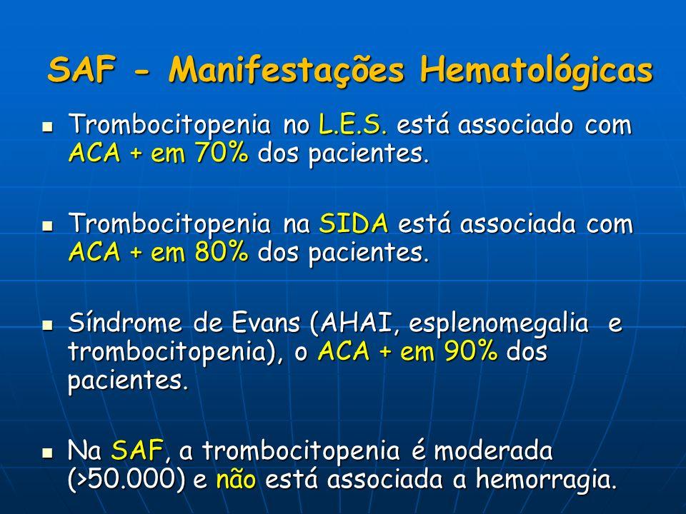 SAF - Manifestações Hematológicas