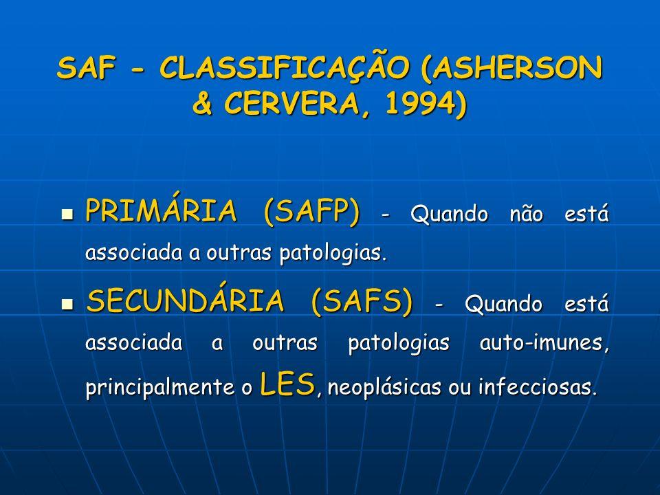 SAF - CLASSIFICAÇÃO (ASHERSON & CERVERA, 1994)