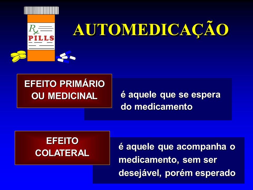 EFEITO PRIMÁRIO OU MEDICINAL