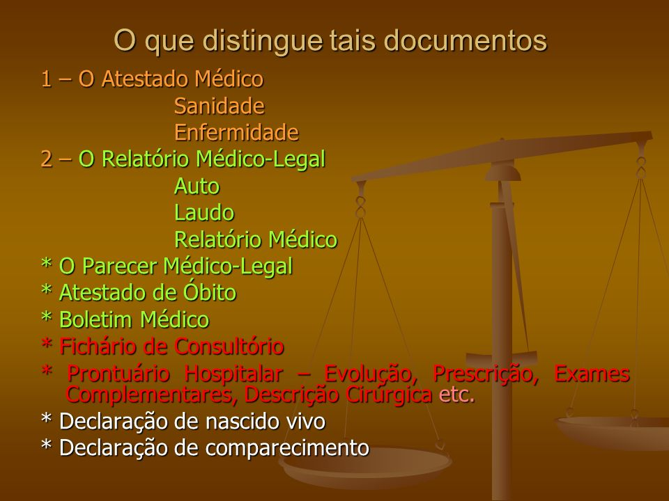 O que distingue tais documentos