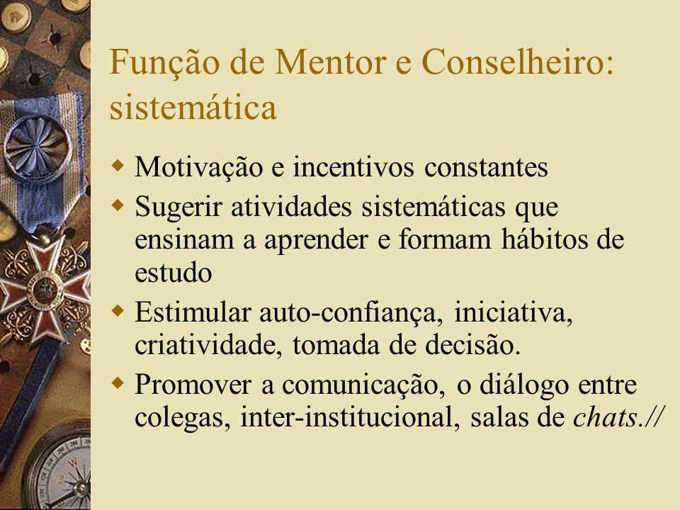 Função de Mentor e Conselheiro: sistemática