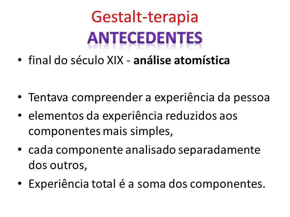 Gestalt-terapia antecedentes