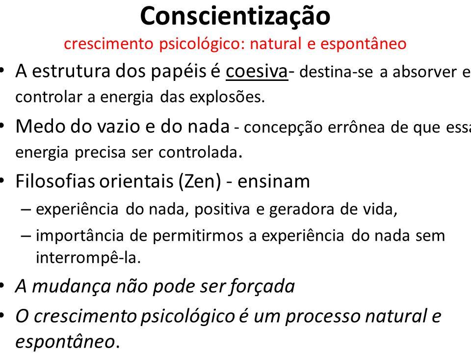 Conscientização crescimento psicológico: natural e espontâneo