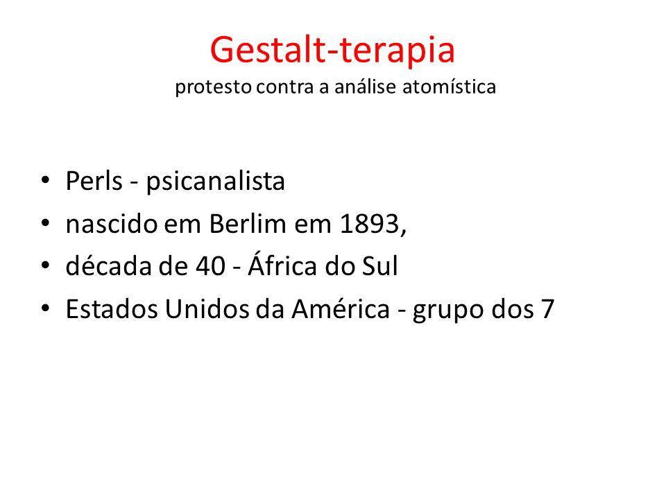 Gestalt-terapia protesto contra a análise atomística