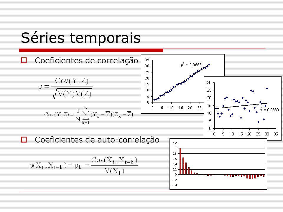 Séries temporais Coeficientes de correlação