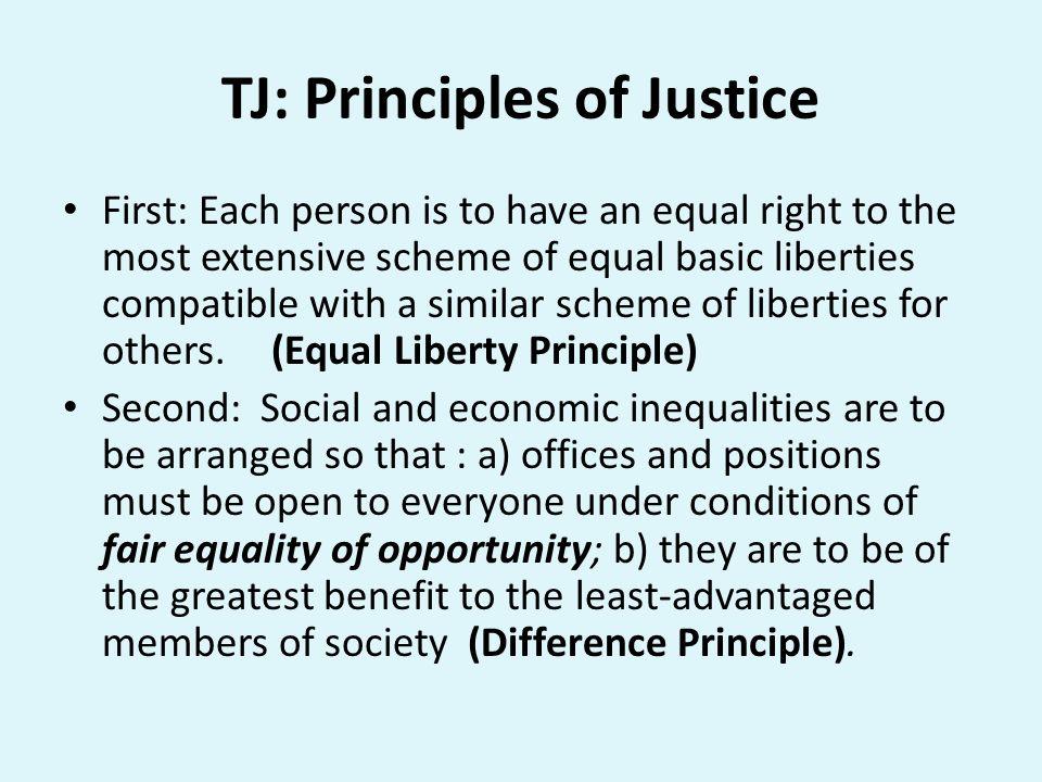 TJ: Principles of Justice