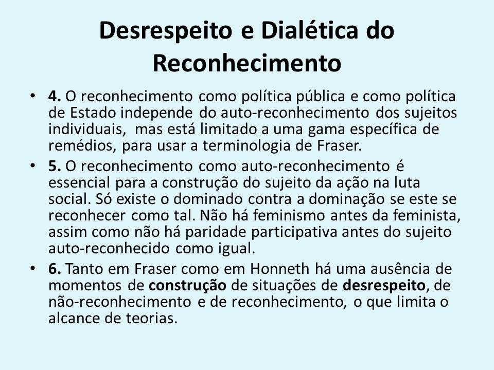 Desrespeito e Dialética do Reconhecimento